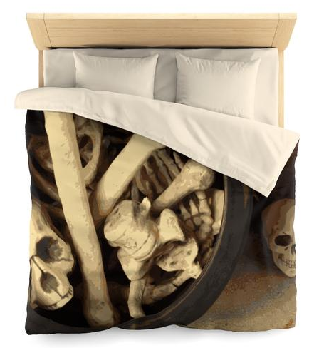 Caldron of bones. Microfiber Duvet Cover, Queen Size by someartworker