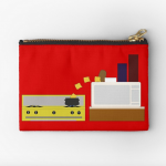 Food Fight - Potato vs Cheese. Studio Pouches by someartworker