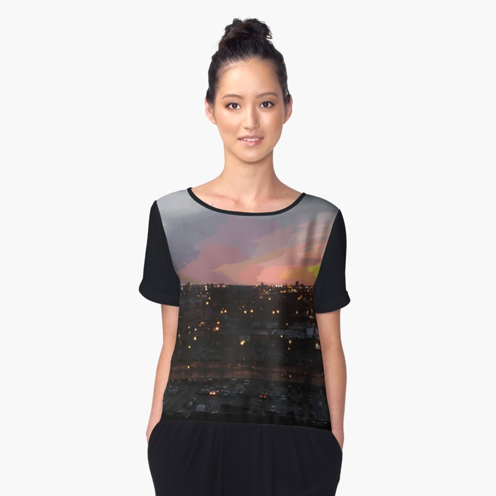 Sunset - April 6, 2018 7:34PM. Women's Chiffon Top by someartworker on Redbubble