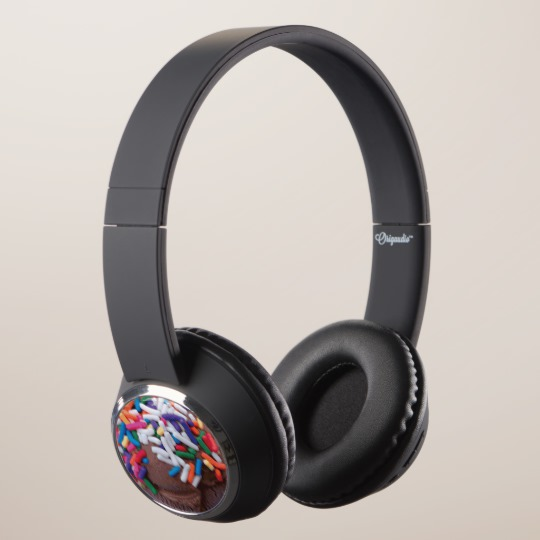 Warm Thoughts - Dark Chocolate Ice Cream with Rainbow Sprinkles Headphones by someartworker on Zazzle