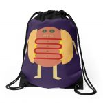 Stubby Lil Weenie Drawstring Bags by someartworker