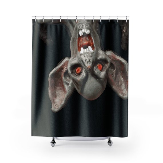 I'll be waiting. . . 100% Polyester Black Shower Curtain by someartworker