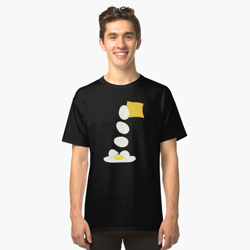 Food Fight - Cheese vs Egg. Classic T-Shirt by someartworker on Redbubble