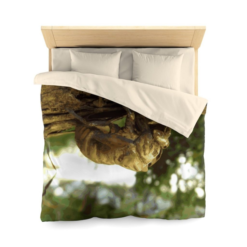 Cicada shell. It was in a hurry. Microfiber Duvet Cover, Queen Size by someartworker on Etsy