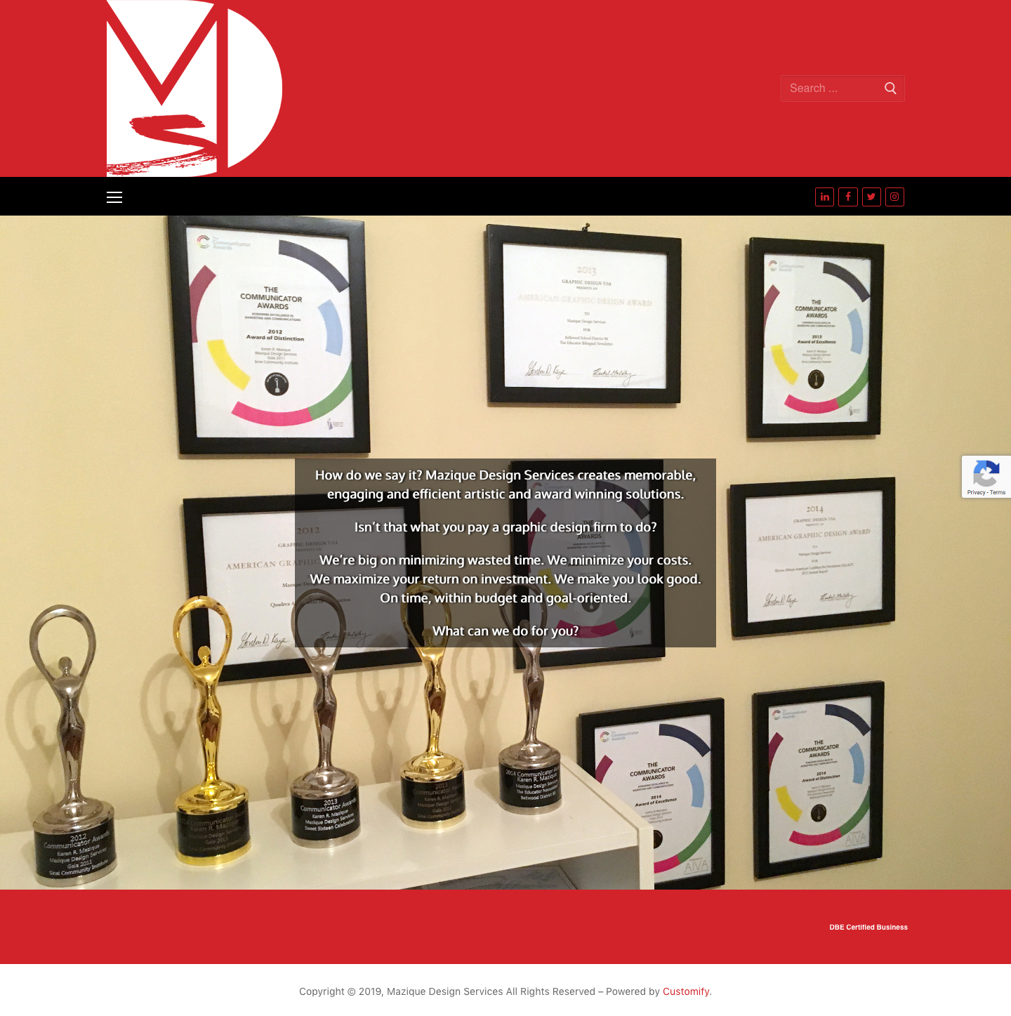 Mazique Design Services website redesign