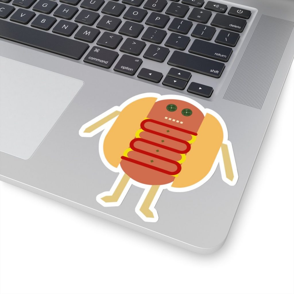 Stubby Lil Weenie. Kiss-Cut Sticker by someartworker on Etsy