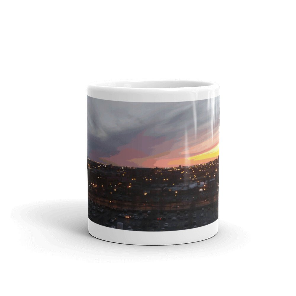 Sunset - April 6, 2018 7:34PM. Mug by someartworker on Etsy