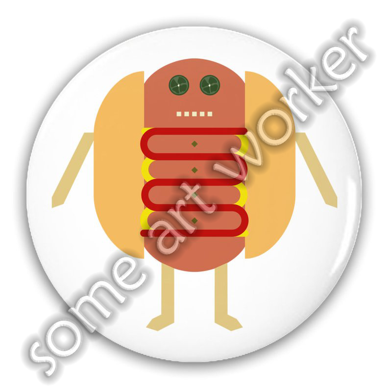 "Stubby Lil Weenie. 1.25"" or 2.25"" Pinback Button ⁣by someartworker on Etsy"