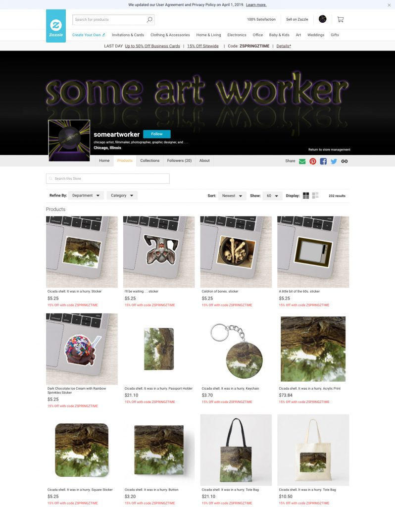 someartworker's shop on Zazzle