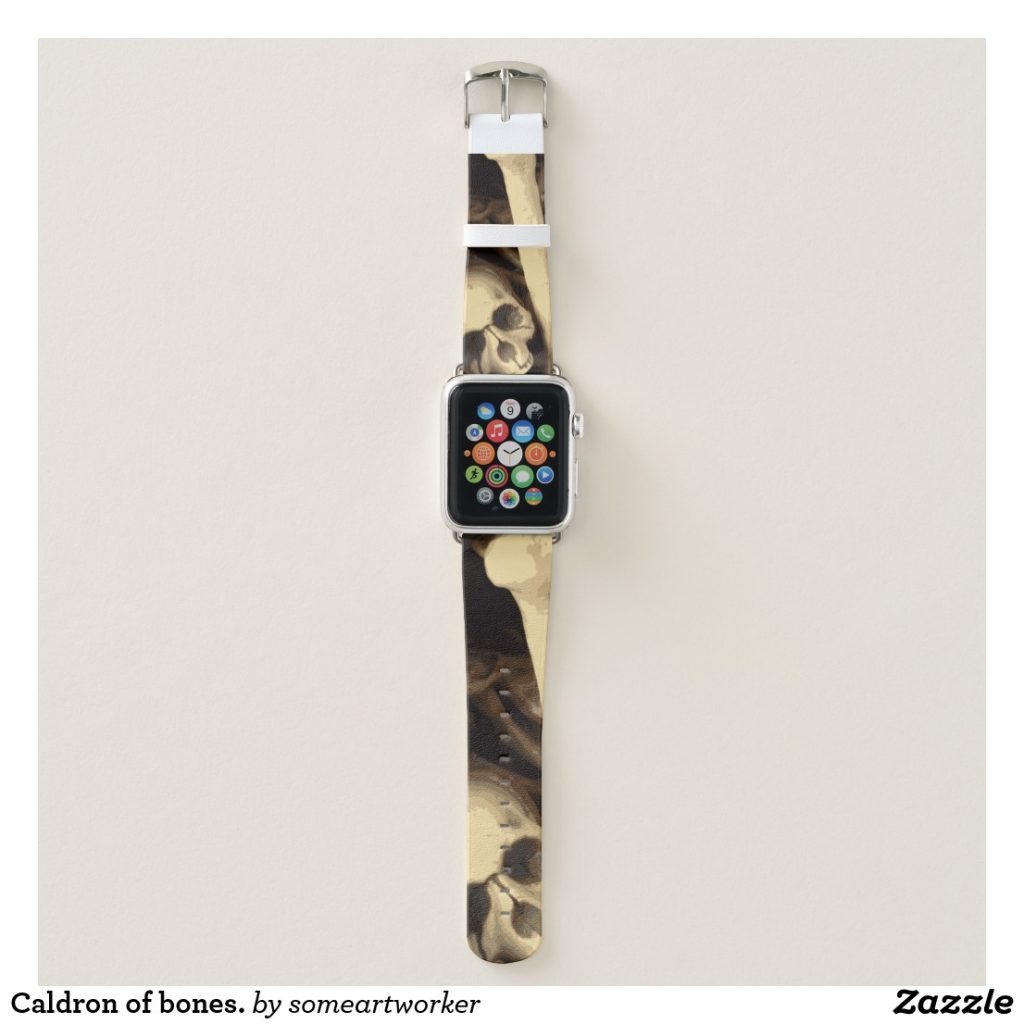 Caldron of bones Apple Watch Band by someartworker on Zazzle