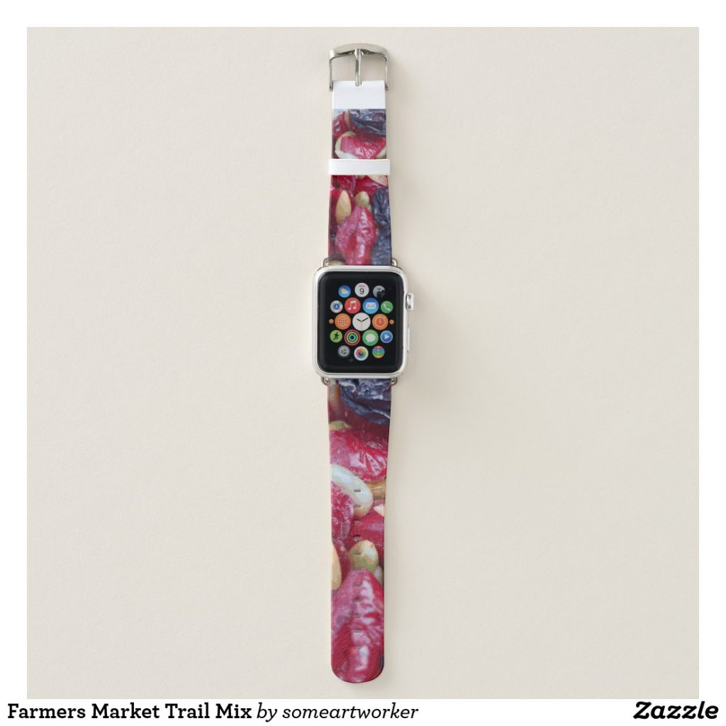 Farmers Market Trail Mix Apple Watch Band by someartworker on Zazzle
