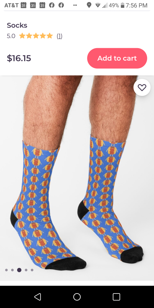someartworker Stubby Lil Weenie socks from Redbubble
