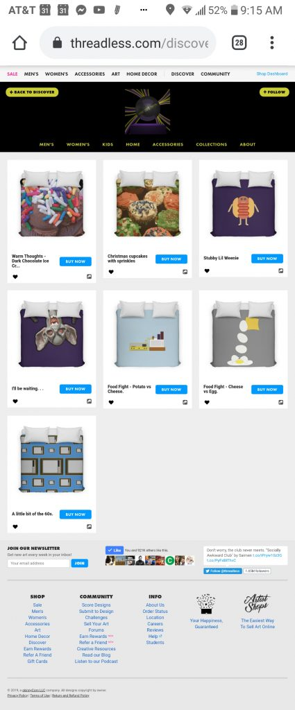 someartworker's shop – shower duvet covers sale on Threadless