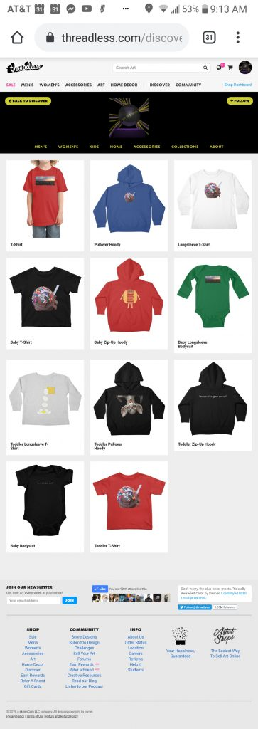 someartworker's shop – shower kids apparel sale on Threadless