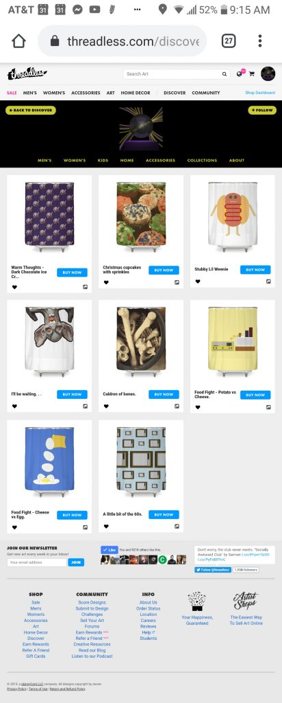 someartworker's shop – shower curtains sale on Threadless