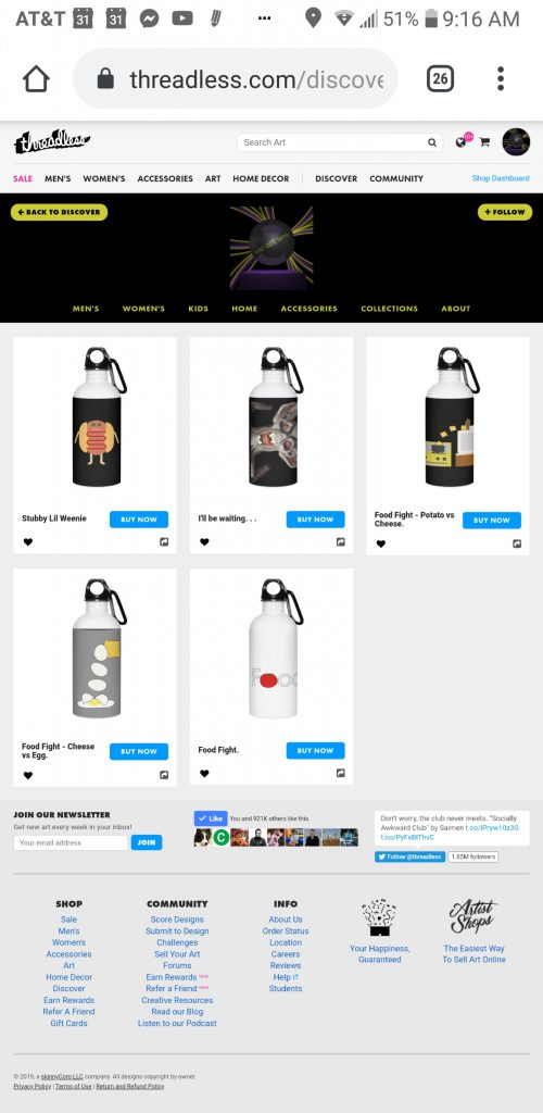 someartworker's shop – water bottles sale on Threadless