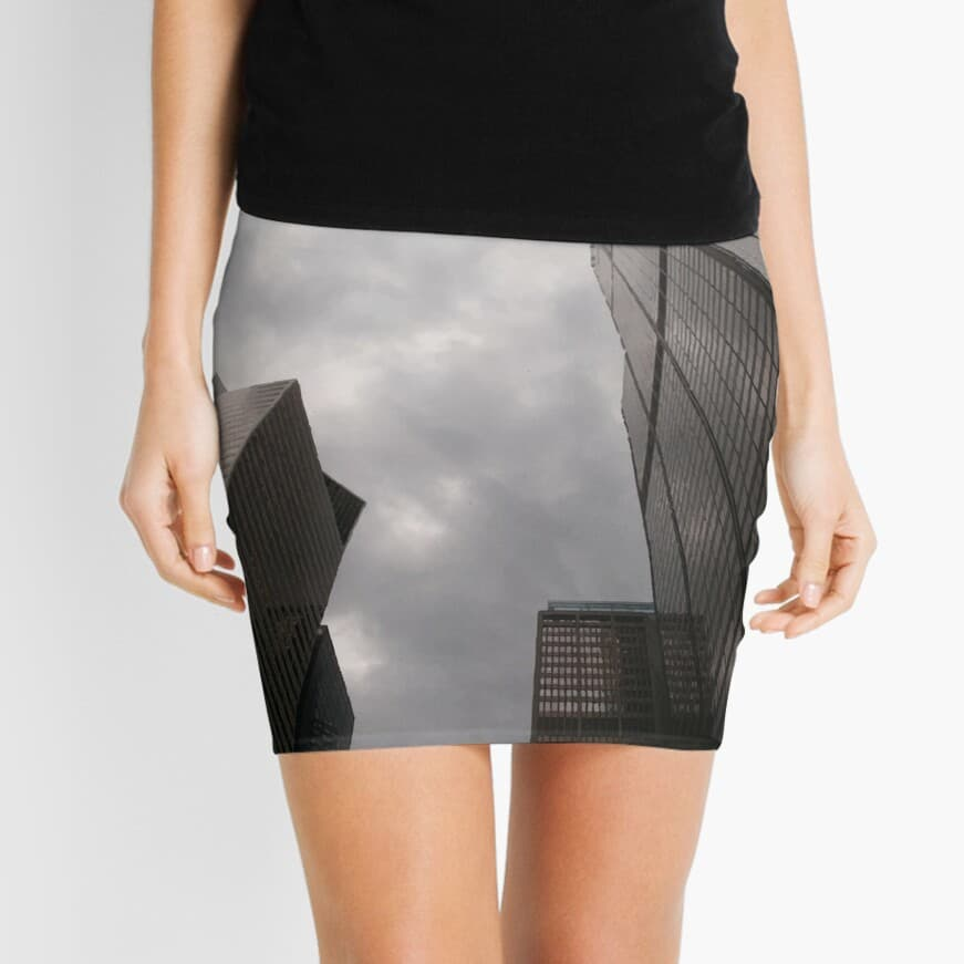 Tower in the city mini skirt on Redbubble by someartworker