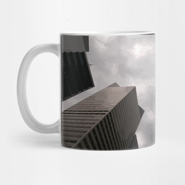 Tower in the city mug by someartworker on Teepublic