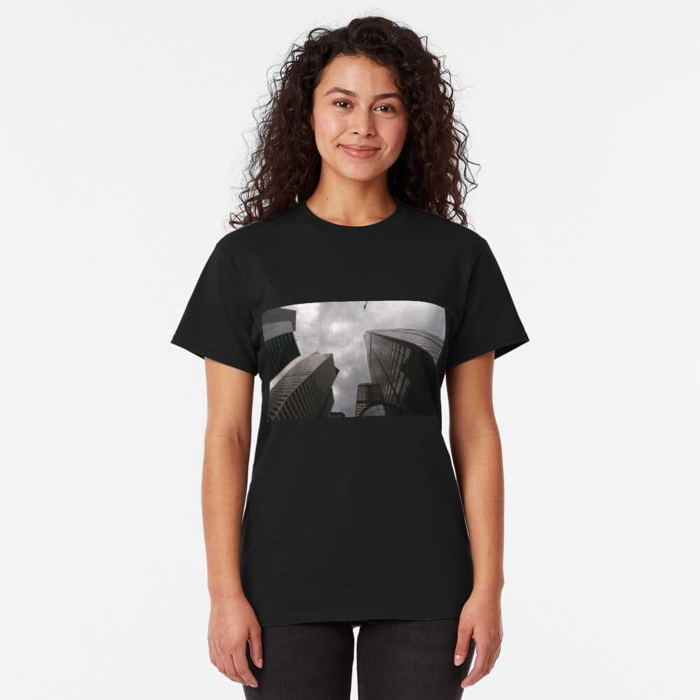 Tower in the city premium t-shirt on Redbubble by someartworker