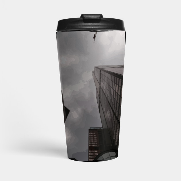 Tower in the city travel mug by someartworker on Teepublic
