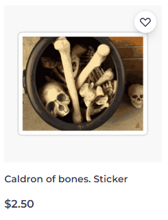 Caldron of bones sticker on Redbubble by someartworker
