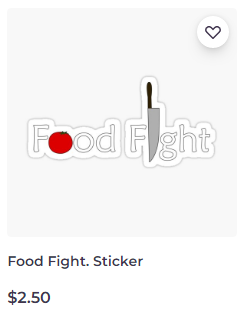 Food Fight sticker on Redbubble by someartworker