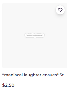 *maniacal laughter ensues* sticker on Redbubble by someartworker