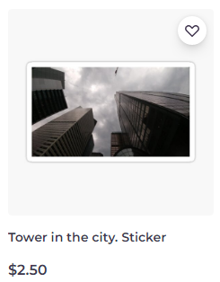 Tower in the city. sticker on Redbubble by someartworker