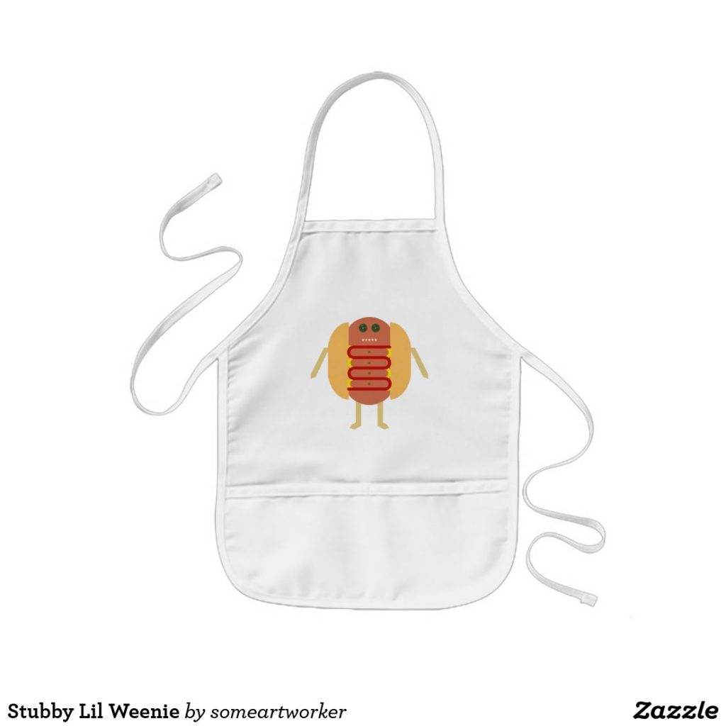 Stubby Lil Weenie kids apron by someartworker on zazzle