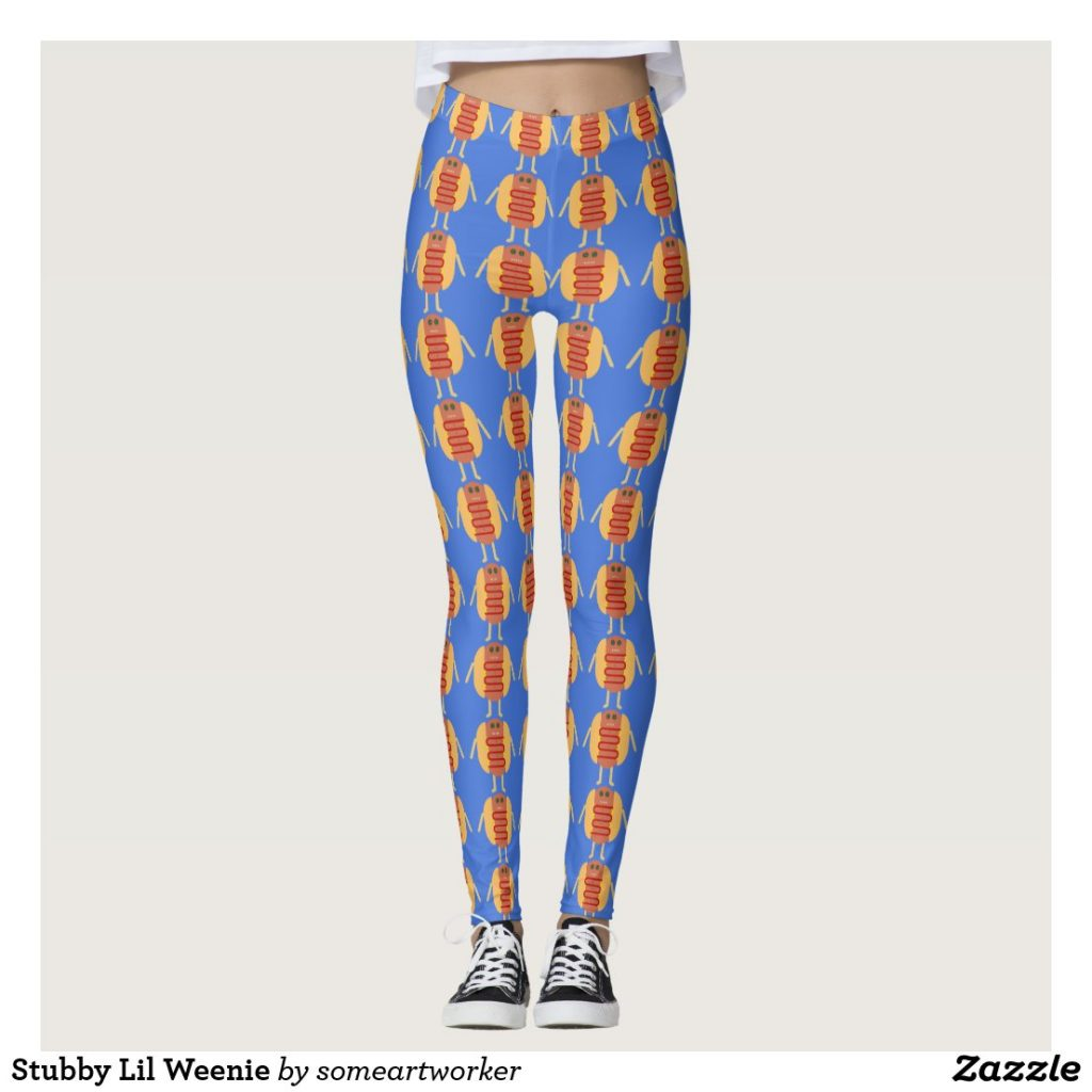 Stubby Lil Weenie Leggings on Zazzle by someartworker