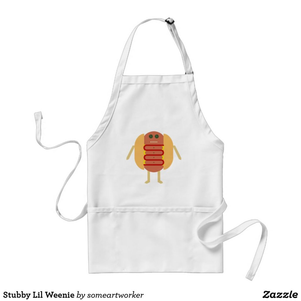 Stubby Lil Weenie standard apron by someartworker on zazzle