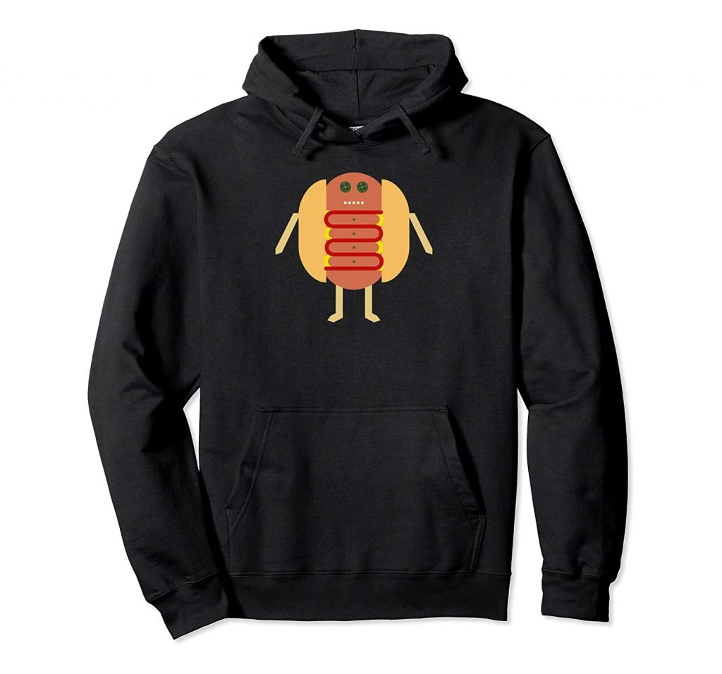 Stubby Lil Weenie black pullover hoodie for Merch by Amazon by someartworker