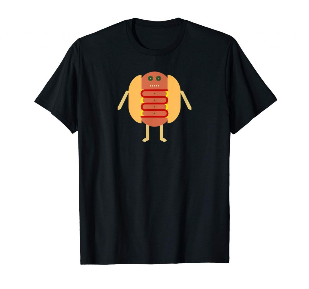 Stubby Lil Weenie black t-shirt for Merch by Amazon by someartworker