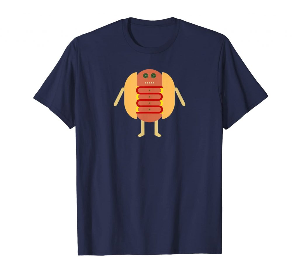 Stubby Lil Weenie navy t-shirt for Merch by Amazon by someartworker