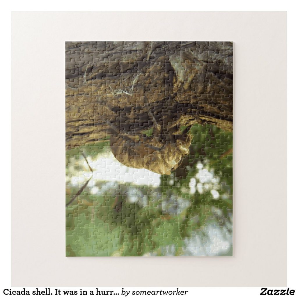 Cicada shell. It was in a hurry. (Challenging) Puzzle on Zazzle by someartworker