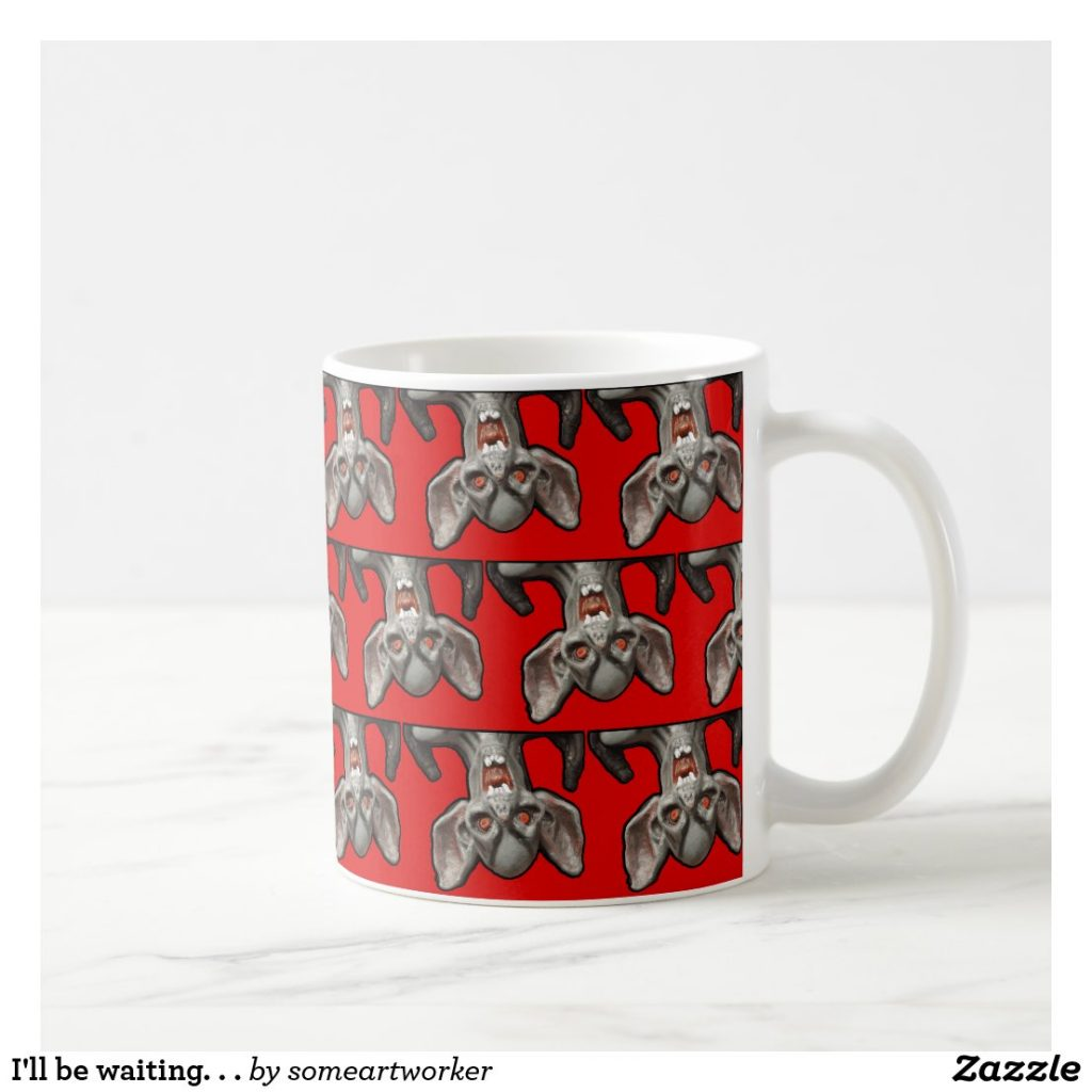 I'll be waiting. . . Mug right handle on Zazzle by someartworker