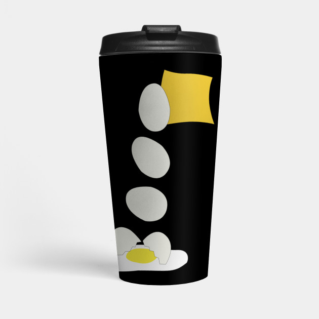 Food Fight - Cheese vs Egg. Travel Mug by someartworker on Teepublic